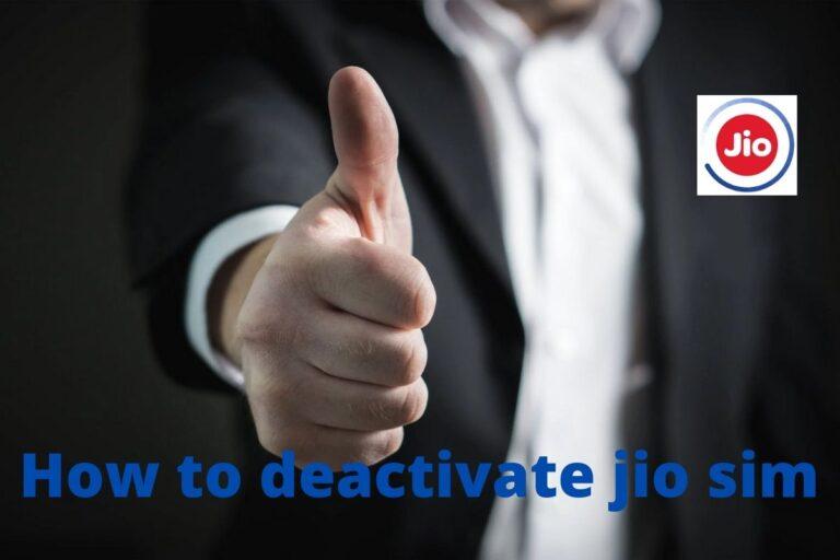 How to deactivate jio sim