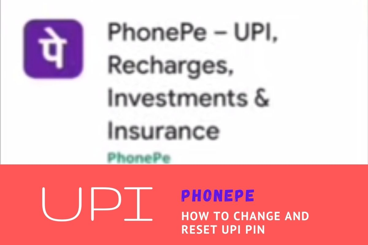 How to reset UPI pin in Phonepe