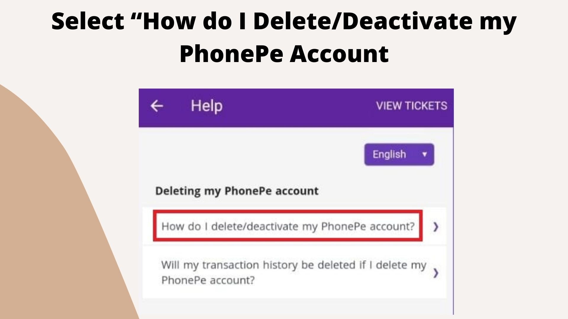 """""""How do I Delete/Deactivate my PhonePe Account"""