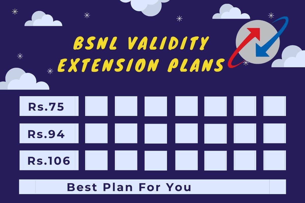BSNL validity extension plans