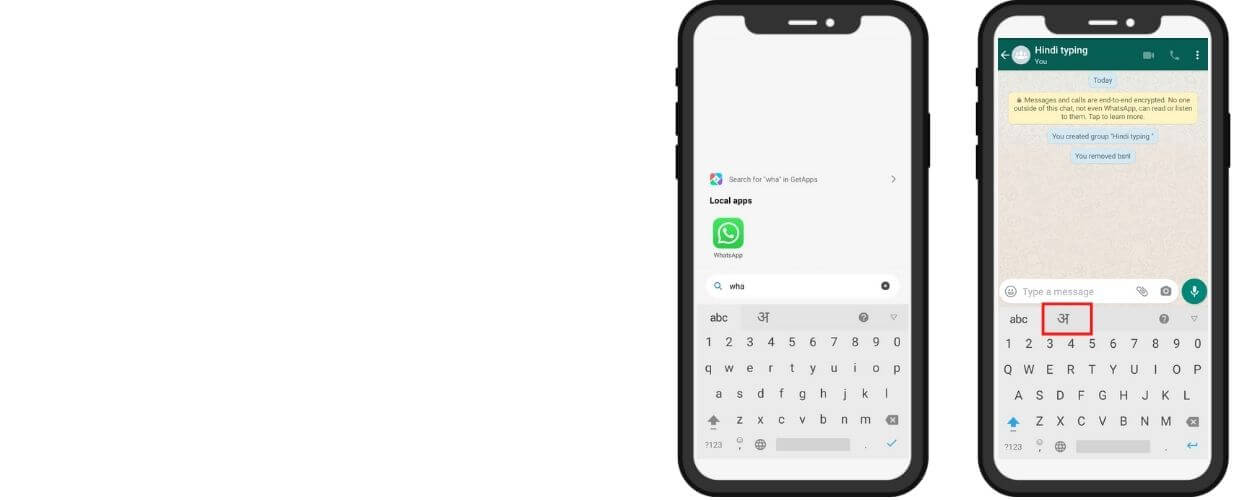 how to type in hindi in whatsapp iphone